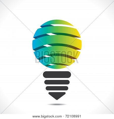 creative colorful bulb design vector