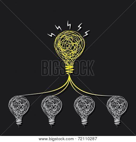 small idea make big idea concept design vector