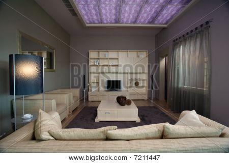 Modern living room interior design.