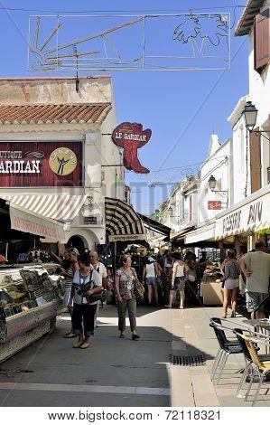 Walk Through A Pedestrian Shopping Street