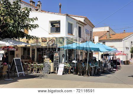 Coffee Shop In The City Center Of Saintes-maries-de-la-mer