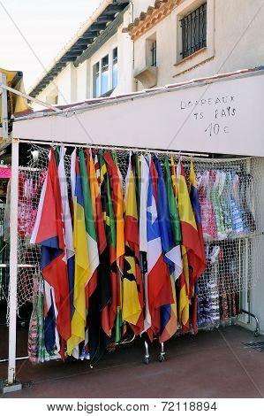 Shop At Saintes-maries-de-la-mer That Sells Flags
