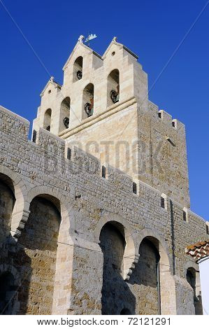 Steeple Of The Church Of Saintes-maries-de-la-mer