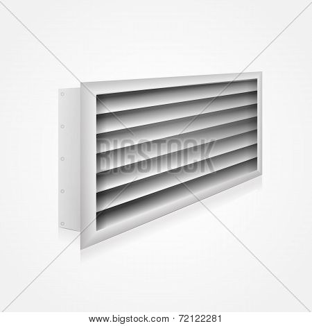 Vector illustration of ventilation louver