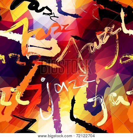Jazz music pattern.