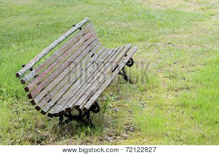 Old Moss-covered Bench