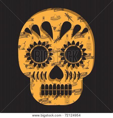 Mexican Skull Decoration