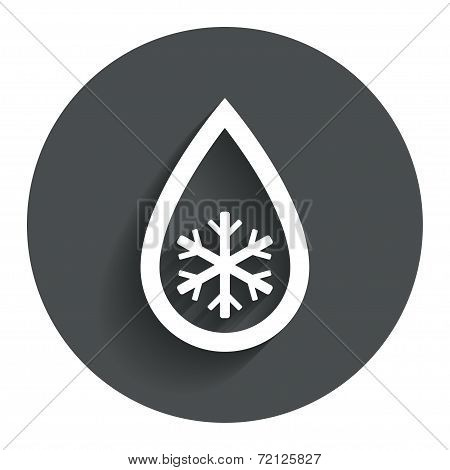 Defrosting sign icon. From ice to water symbol.