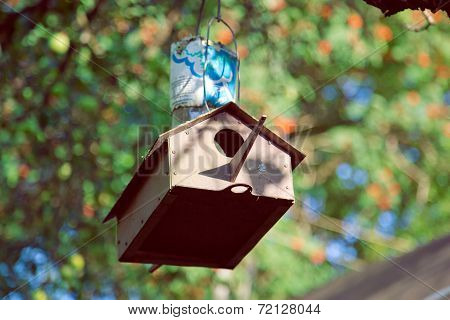 The feeder in the forest