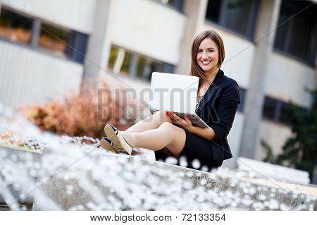 Female Student Outside Fun