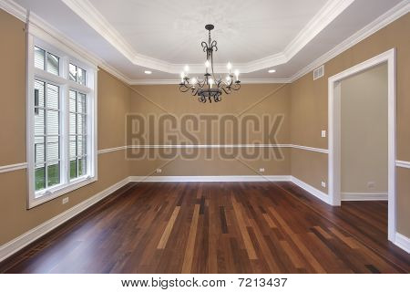 Dining Room With Tan Walls