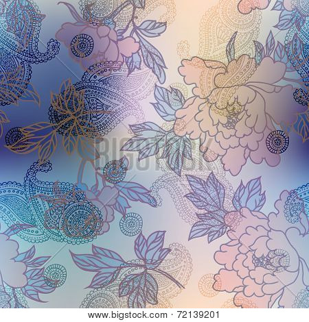 Peones transparency pattern on blur background