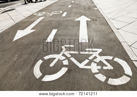 Bikeway On Urban Street