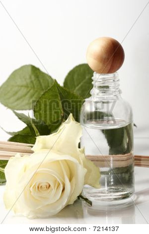 Water Bottle And Rose