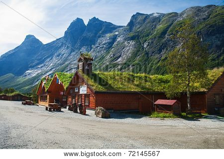 Souvenir Shops In The Traditional Norwegian Style