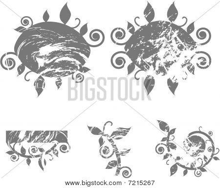 Grunge swirls blobs