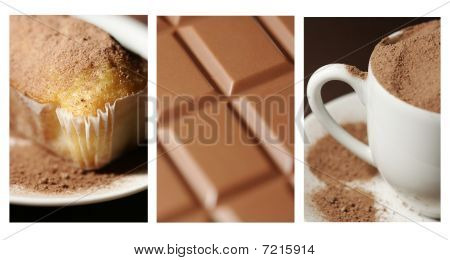 Chocolate And Cocoa Collage