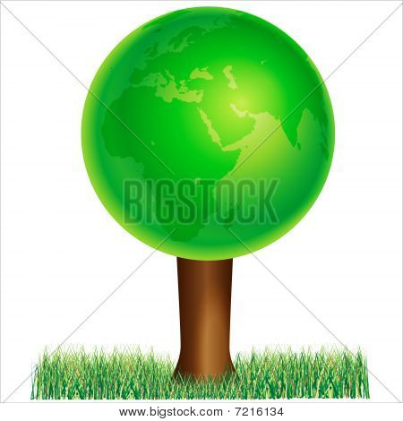 ecology Green EARTH isolated over white background and groups