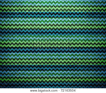 Leather Colorful Chevron Stripes Background or Textured poster