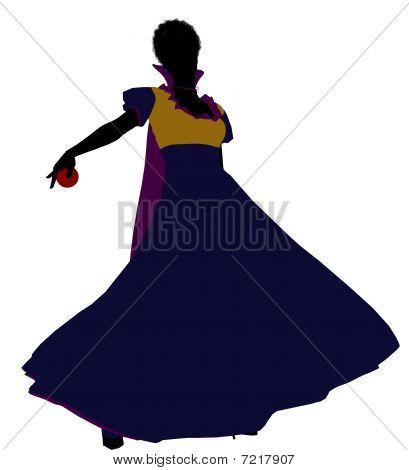 Snow White Silhouette Illustration