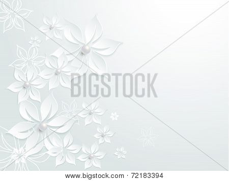 Lovely wedding paper card element pattern designwith flowers