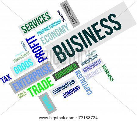 word cloud - business