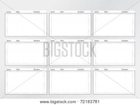 Storyboard Template Gird X 9
