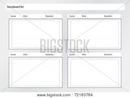 Storyboard Template 4 frames