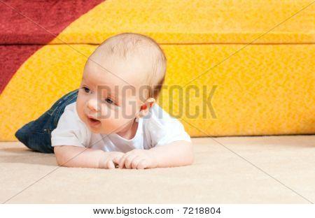 Little Baby On The Floor