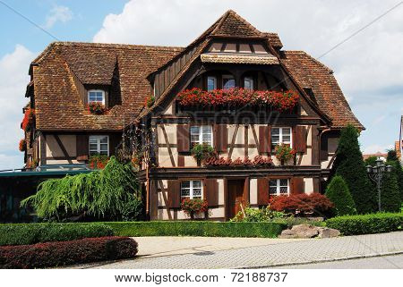 Historic half-timbered house