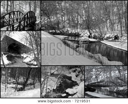 Winter scene collage