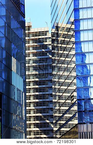 World Trade Center Apartments Abstract Glass Buildings Skyscrapers Reflection New York City Ny