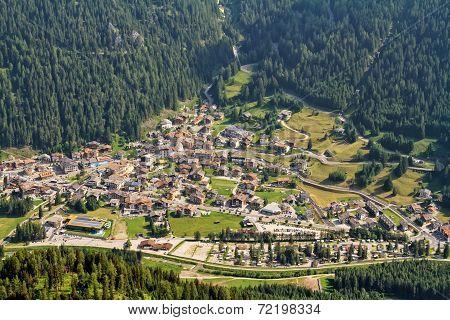 Canazei Aerial View