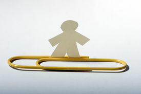 Little Paper Man And Paper Clip
