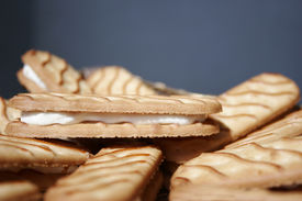 Stock Photo Of Biscuits With Coconut Filling