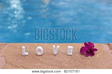 Word Love On The Rock And Water.