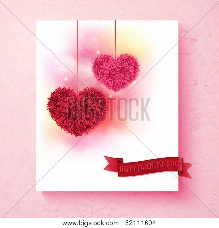 Sentimental Valentine card design with hearts
