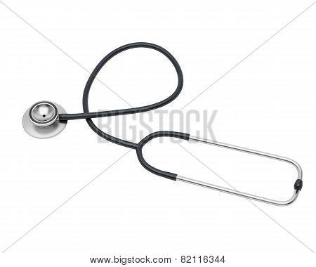 Medical Black Stethoscope.