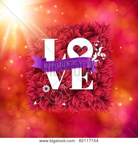 Sentimental Love - Happy Valentines Day card