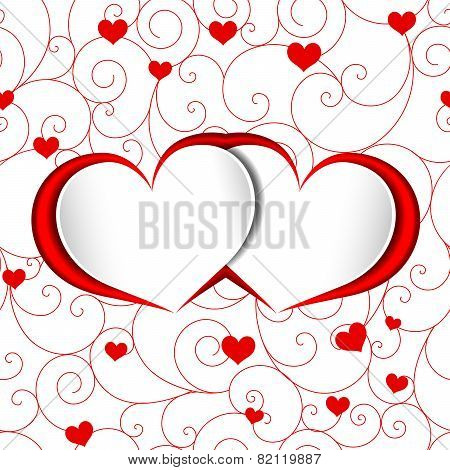 St Valentine Heart Shape Background