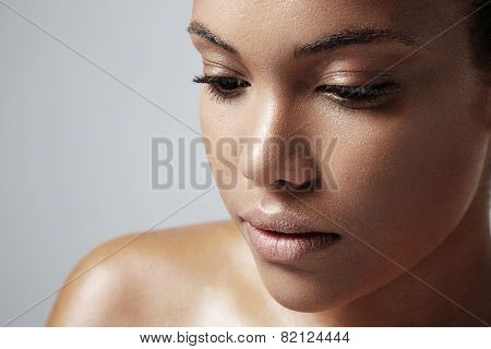 Teen Girl With A Healthy Oily Skin