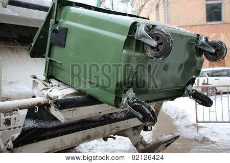 The Trash Can And Refuse Collection Vehicle