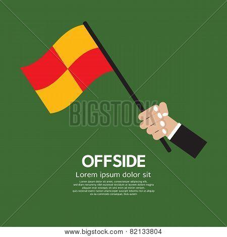 Offside Football (Soccer) Vector Illustration. EPS 10 poster