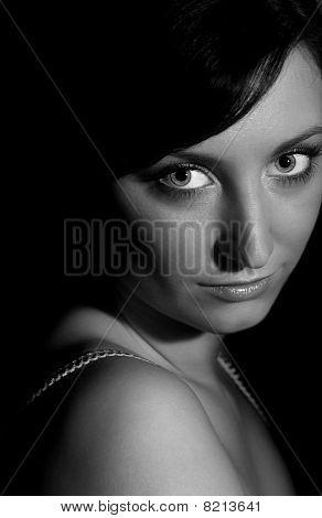 Black And White Teenage Portrait