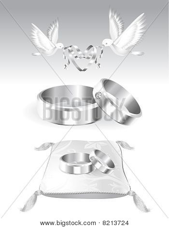 Decoration items for marriage silver