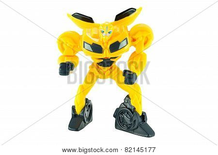 Bumble Bee Plastic Toy Character From Transformers Prime Animation Series.