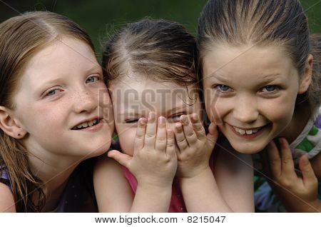 Three cute girls
