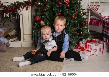 Children Under The Christmas Tree