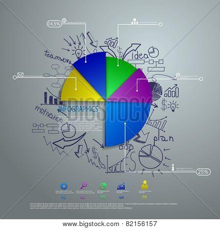 Info Graphic Colorful Diagram