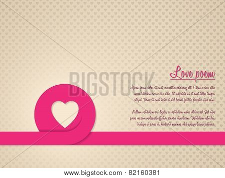 Valentine's Day Greeting Card With Heart Patterned Background